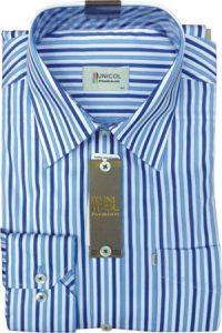 Thời trang công sở nam với áo sơ mi kẻ dọc
