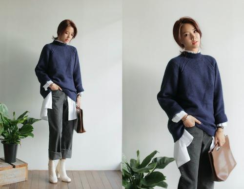 Phong cách áo len mùa đông 2015 cho các chị em