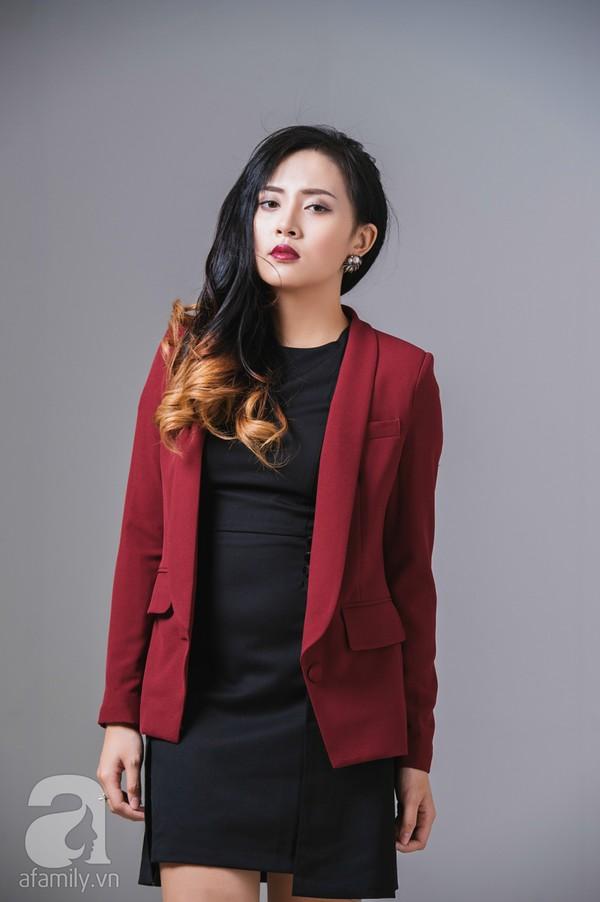 Chọn áo khoác ăn ý cho váy màu đen