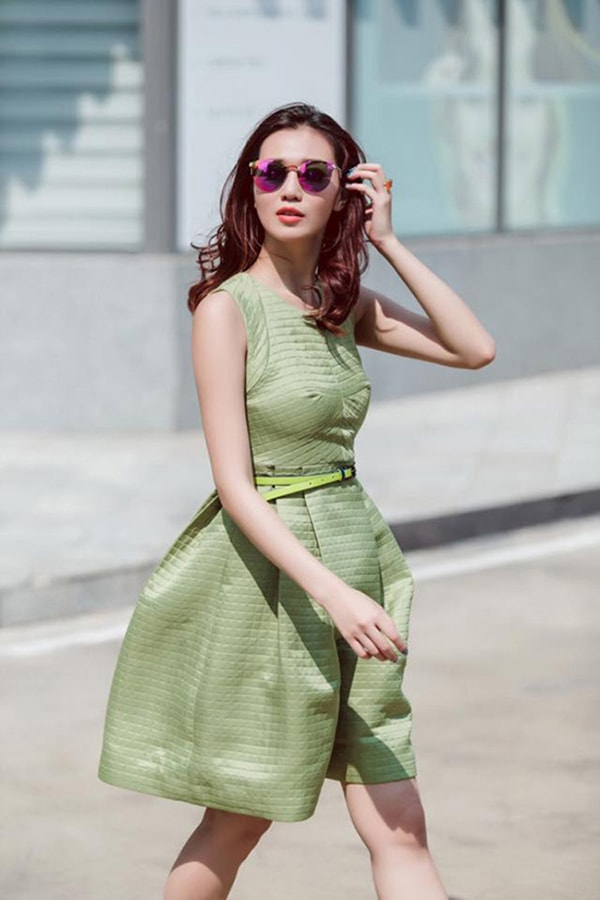 Xu hướng thời trang xanh lá mạ