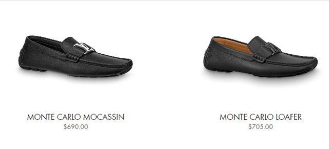 Giá bán giày lười LV nam đế bệt từ 15tr -18tr đồng