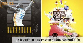 Các chất liệu in poster quảng cáo thường được sử dụng