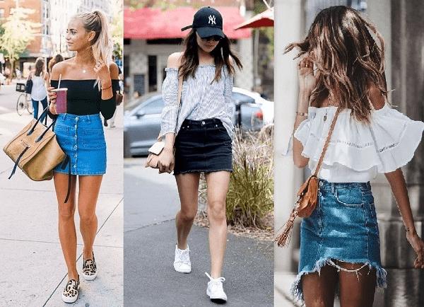 Chân váy jean bó phù hợp với nhiều phong cách khác nhau