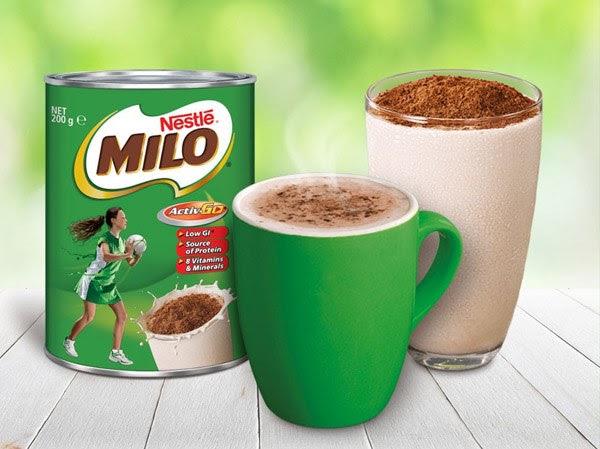 Trẻ uống Milo
